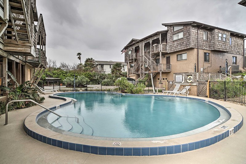 Melt your worries away at the pool of this Smyrna vacation rental townhome.