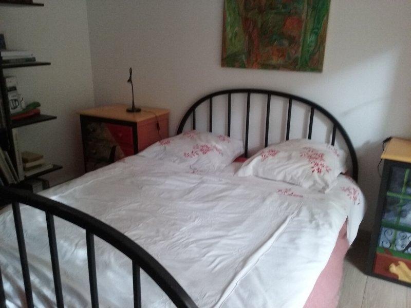 1 dormitorio con cama doble