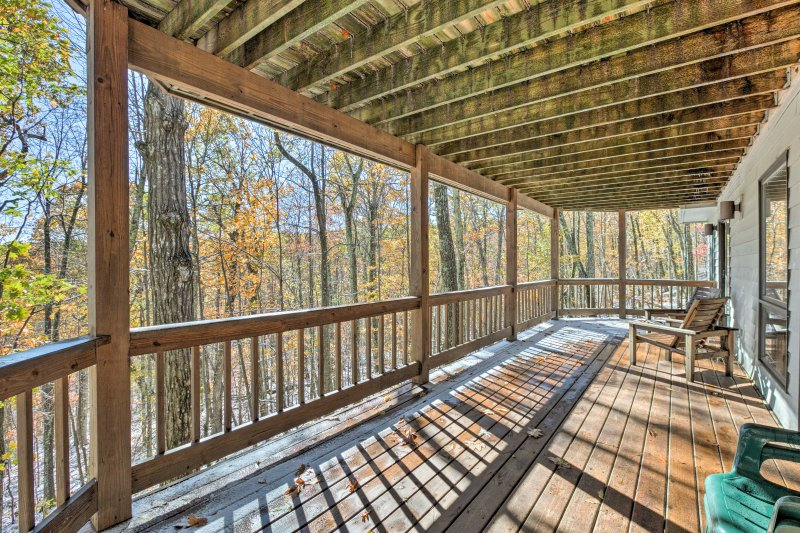 Truly immerse yourself in nature at this rustic 4-bedroom, 3-bathroom home!