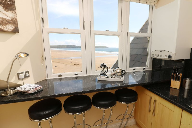 Hartland Heights Woolacombe Holiday Cottage Kitchen View