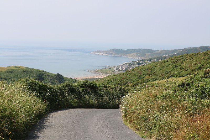 Woolacombe Beach Road View Of Woolacombe