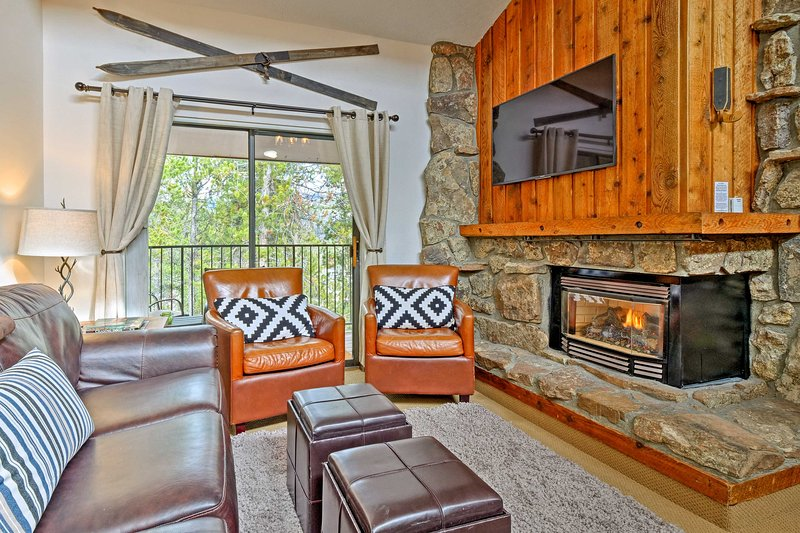 Enjoy a cozy mountain retreat while staying in this vacation rental condo!