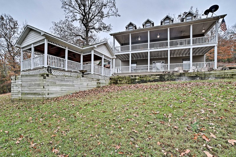 Your Arkansas Ozarks retreat begins at this 5-bed vacation rental house.