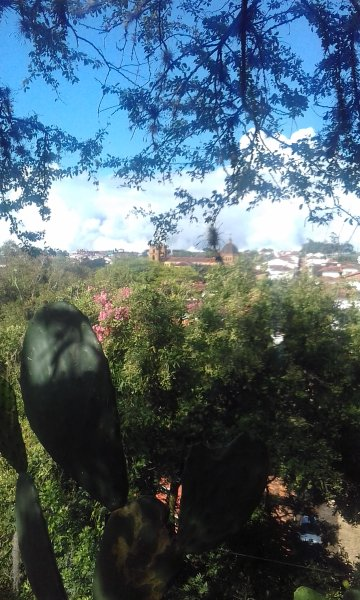 View of town from the lookout at La Loma, where you can go abunas streets of the house