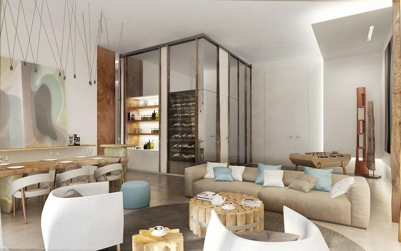 Nikki Beach Resort & Spa Living Room