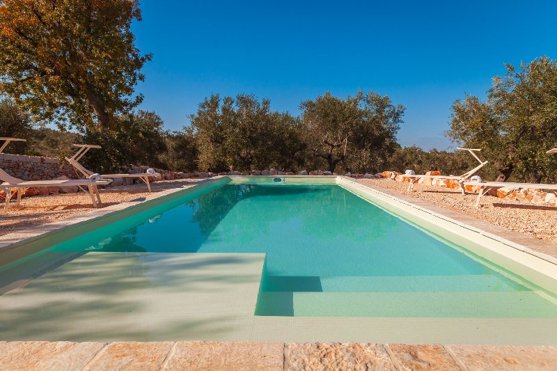 Trulli with pool in Monopoli for 5 guests, holiday rental in Cozzana