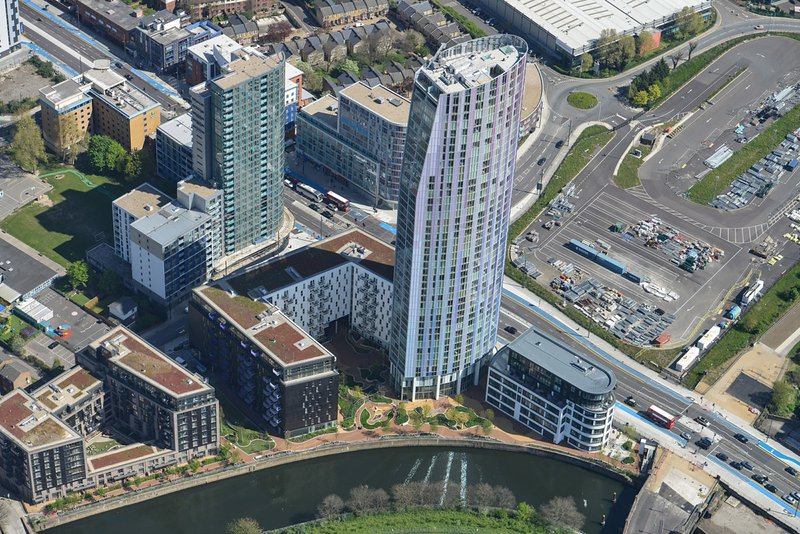 Building view from sky