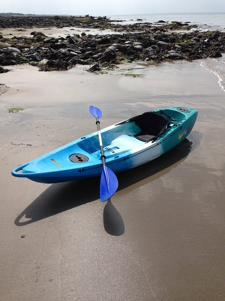Kayak available to hire.