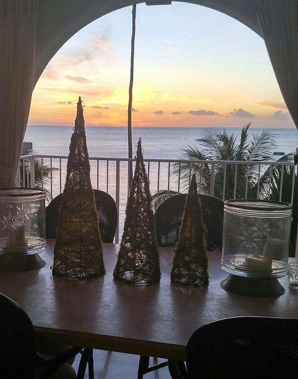 Yet another fabulous sunset from dining table.