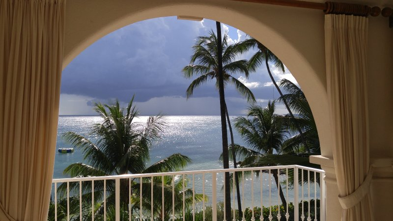 Yet another fabulous sunset - storm out towards St. Lucia
