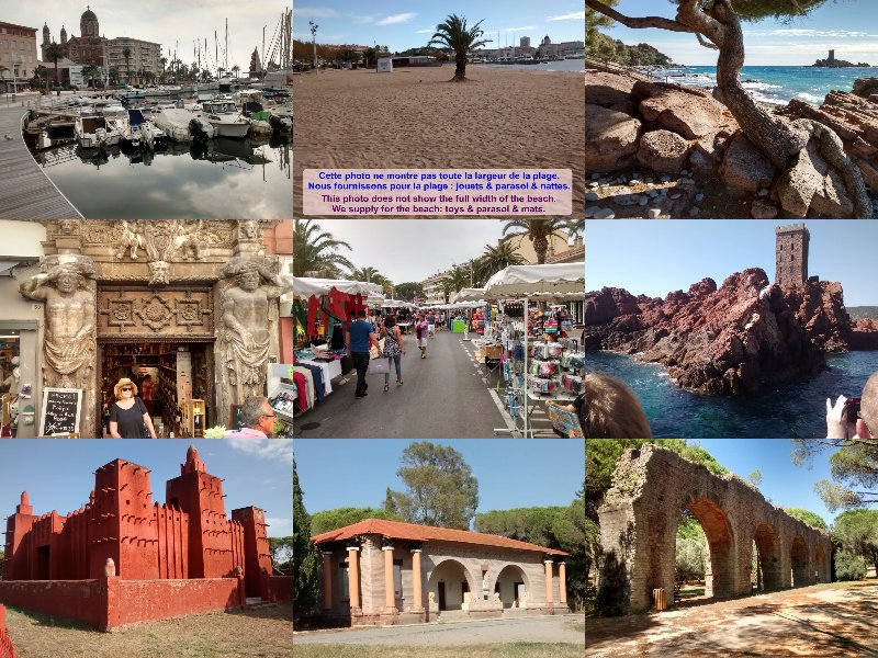 Some parts of St.Raphaël et Fréjus. They have many attractions to see and things to do.