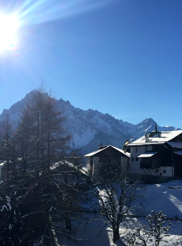View coming from the Traumpiste