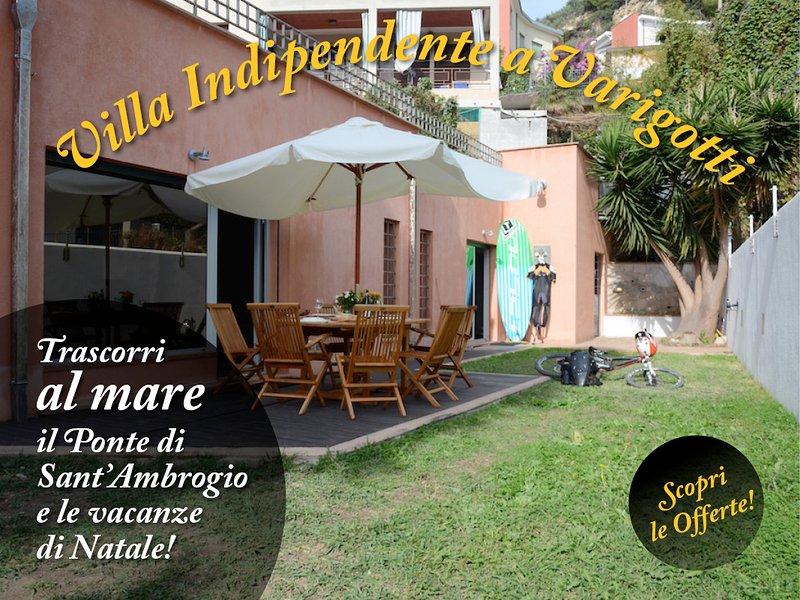 Villa Giglio, a 50mt dal mare Codice CITRA 009029-LT-0445, holiday rental in Bergeggi