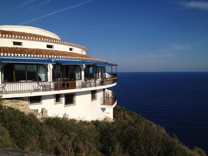 Cliff edge restaurant with stunning views, approx 2km from the Villa.