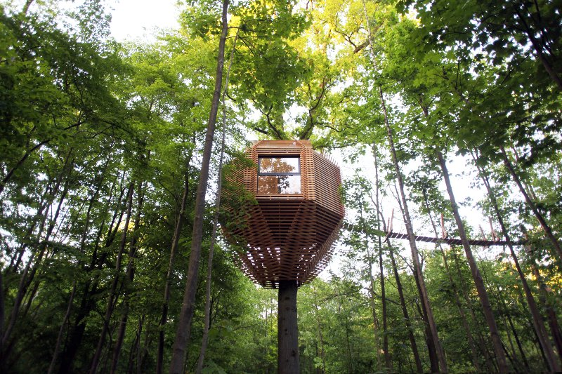 Luxurious tree house with private jacuzzi, vacation rental in Orrouy