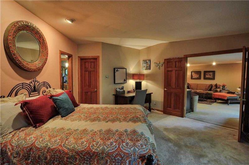 Master Bedroom has a Soft King Bed and En Suite Bathroom