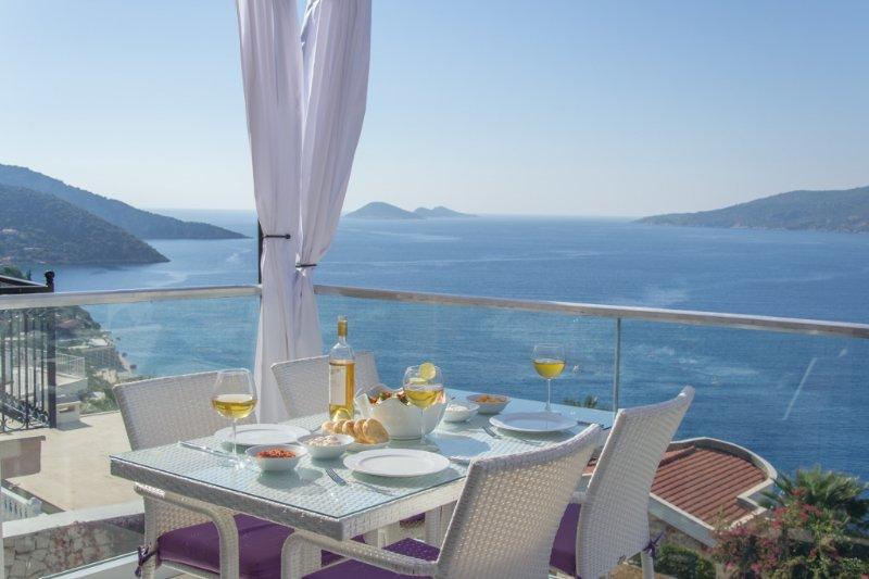 La impresionante vista desde el balcón!