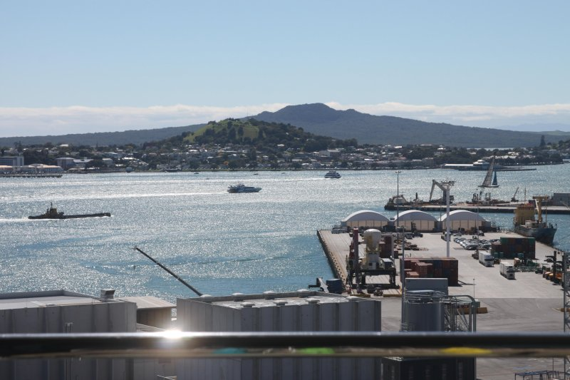 Lookout of Devonport & Rangitoto Island from our balcony