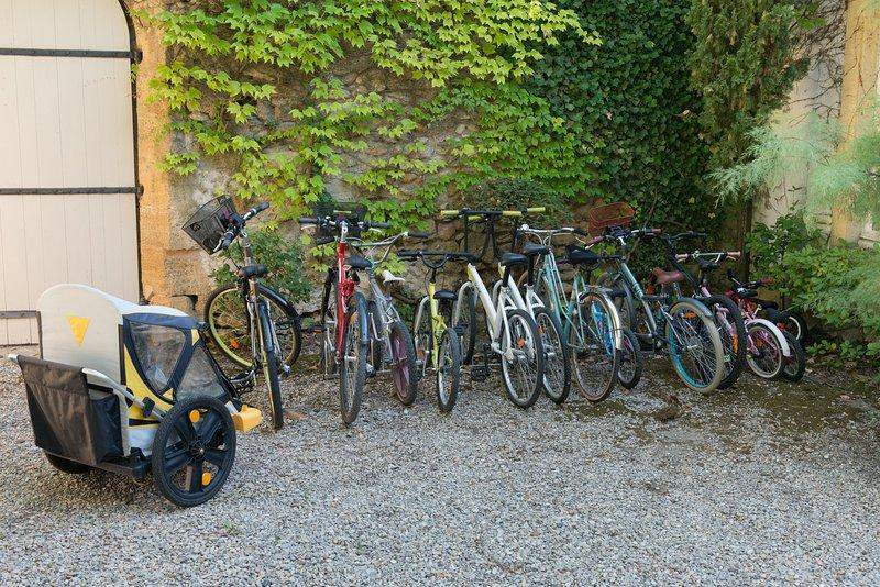 5 volwassen fietsen + 8 kinderfietsen
