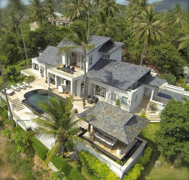 Aerial Shot of Villa Sarasuz