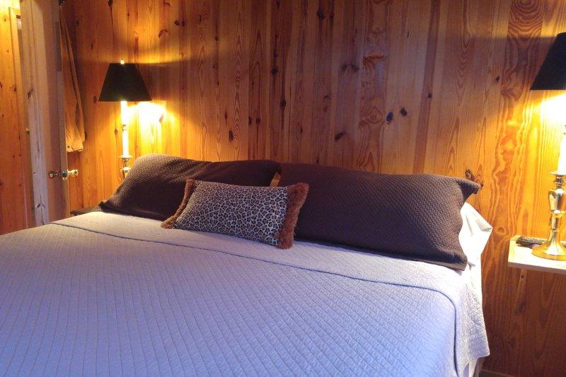 master bedroom.  King.  TV.
