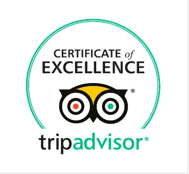 Awarded 2017 TripAdvisor Certificate of Excellence