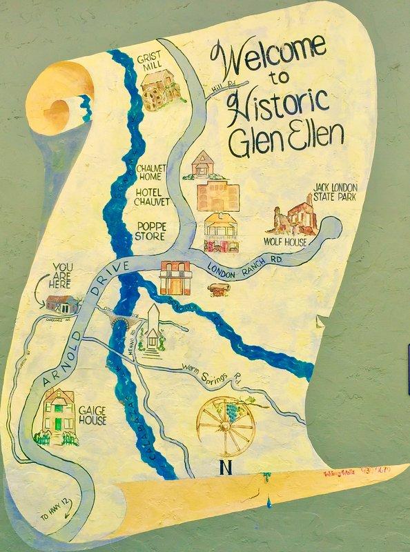 Historic Map mural in downtown Glen Ellen.