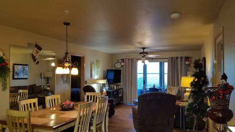 3 BR Walk-In (Sleeps 8) 3 King Beds and a Queen Sofa Sleeper, & 2 Recliners Decorated For Christmas