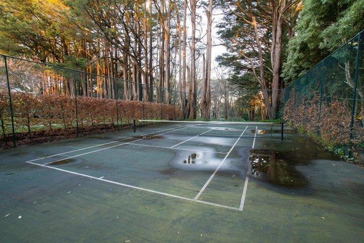 Metà campo da tennis tennis per il vostro divertimento