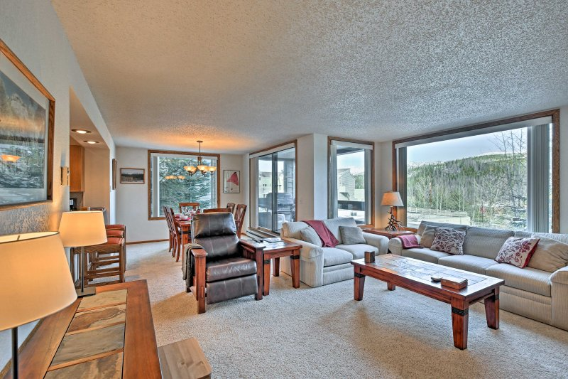 Begin your cozy mountain retreat at this 2-bed, 2-bath vacation rental condo in Winter Park!