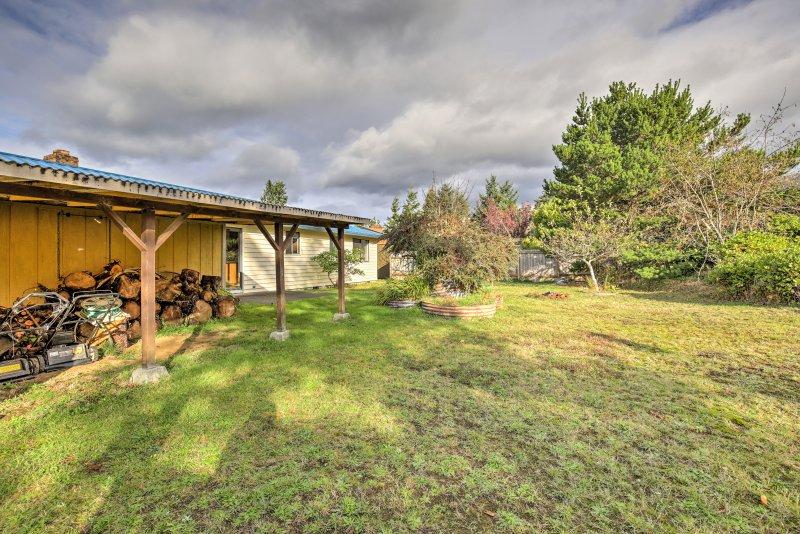 Kinderen kunnen vrij kunnen rondlopen in het huis met zijn grote, weelderige achtertuin.