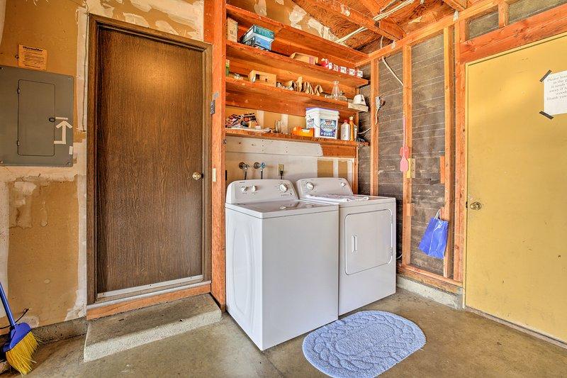 Houd uw kleding fris en schoon met deze handige in-unit wasmachines.