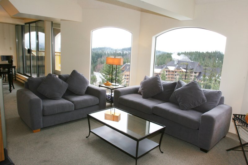 Enjoy a beautiful view from the living room.