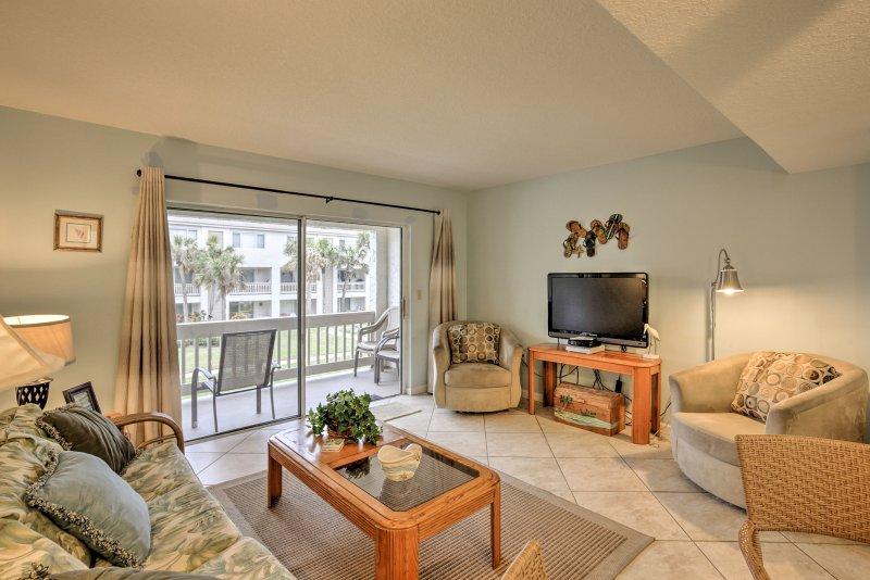 Welkom op deze 2-slaapkamer vakantie aan het strand verhuur appartement in het zuiden van St. Augustine!