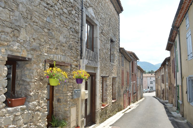 Spacious stone village house in Puivert with 2 bathrooms, short walk to the lake, vacation rental in Rivel