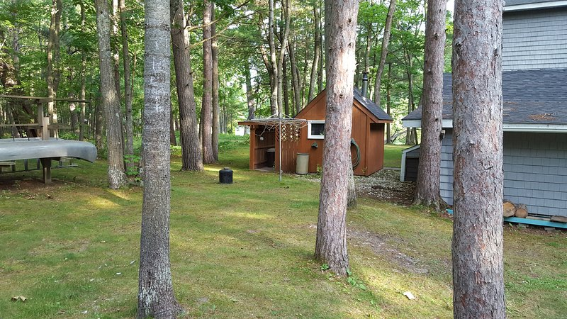 view of sauna