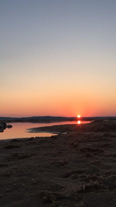 sunrise over east Platte Bay