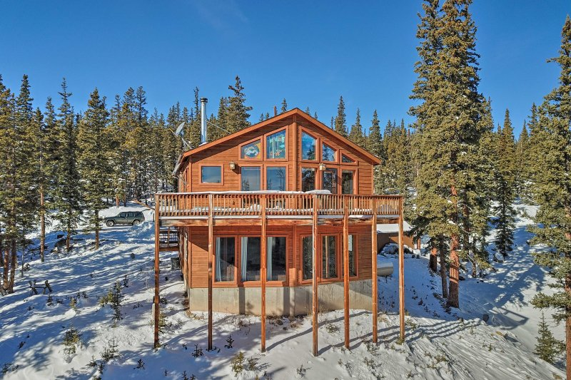 Plan your next Rocky Mountain escape to this Fairplay vacation rental chalet!