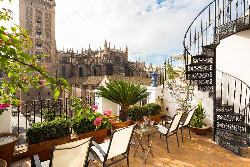 Casa Catedral. 4 bedrooms, private terrace, views, vacation rental in Seville