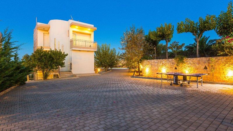 Backyard of our villa Galini