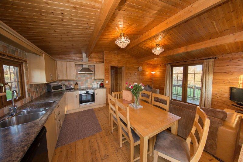 Log cabin sleeping 6 alongside the River Brue (Kingfisher), location de vacances à Highbridge