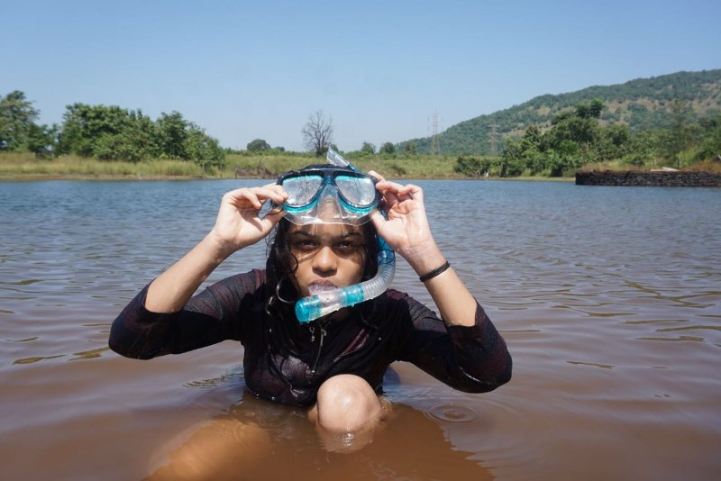 Snorkelling at the lake near dmarc