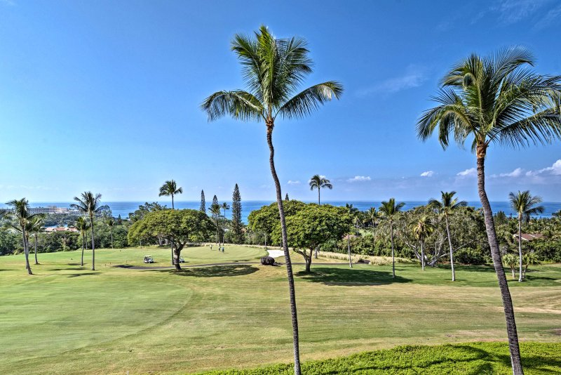 Picturesque views and plenty of sunshine await you at this 2-bedroom, 2-bathroom vacation rental condo.