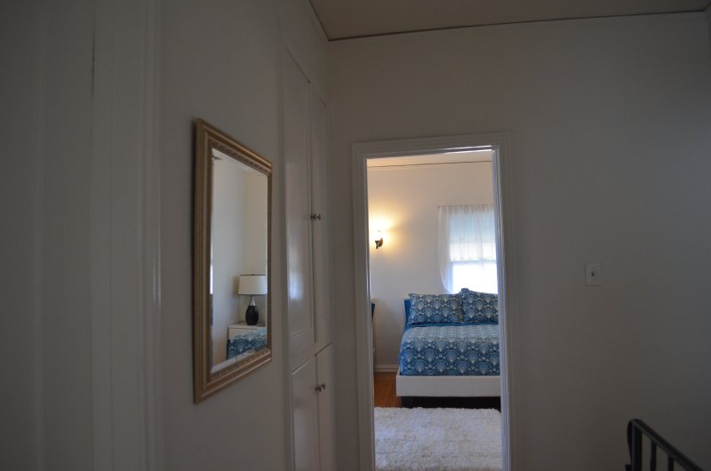 Hallway towards master bedroom.