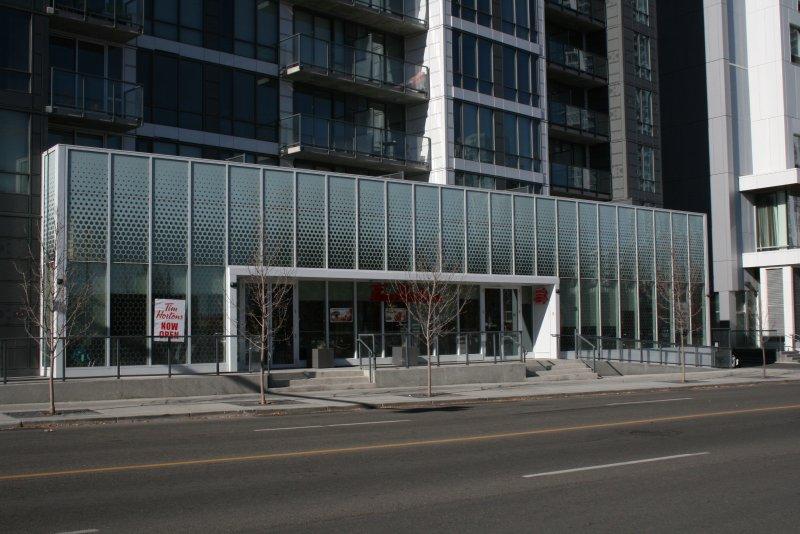 Tim Horton's Restaurant in building