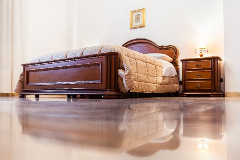 Double bed made of premium hardwood