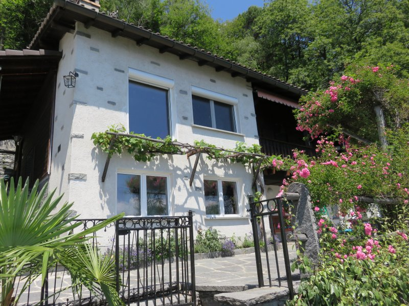 Renovated with love, tipical Ticino House surrounded by flowers and forest