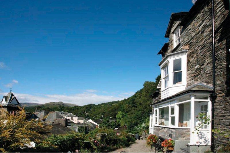 Unique location overhanging Ambleside village