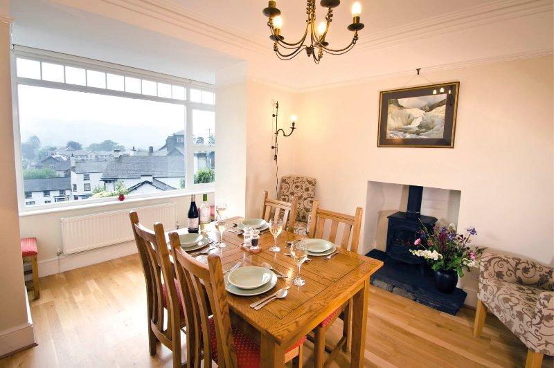 Dining Room with box bay window