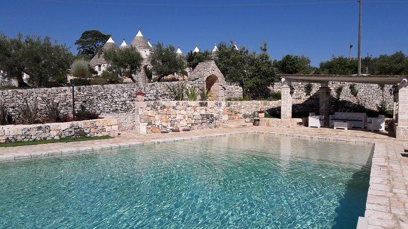 Trulli with pool